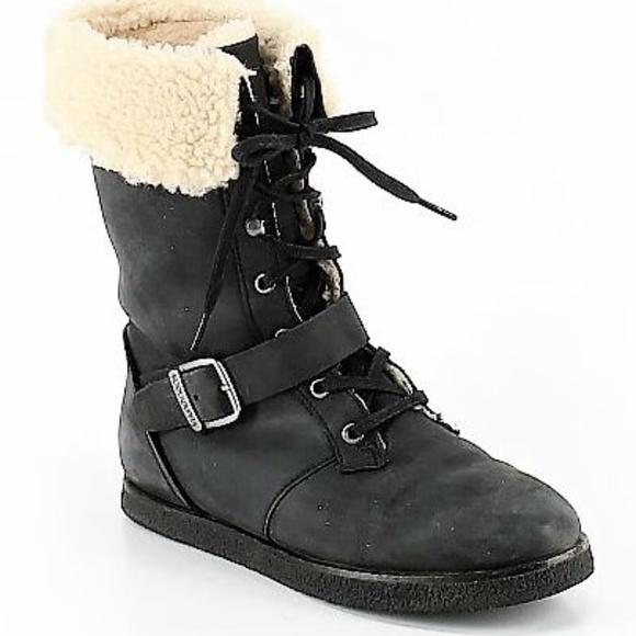f7296c0a163 Koolaburra by Uggs Jovi Black Moto Style Boots